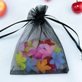 Wholesale 100pcs/lot,Drawable Black Small Organza Bags 9x12 cm, Favor Wedding Gift Packing Bags,Packaging Jewelry Pouches