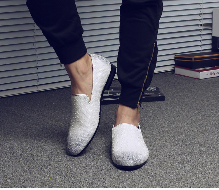 Merkmak 2019 Men Shoes Brand Braid Leather Casual Driving Oxfords Shoes Men Loafers Moccasins Italian Shoes for Men Flats
