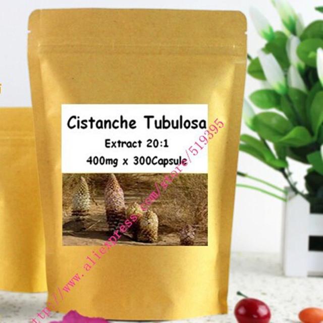 Natureza Cistanche Tubulosa Extrato 20:1 Pó 400 mg x 300 Cápsulas frete grátis