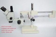 FYSCOPE 3.5X-90X Microscope 50/50 Split Simul-Focal Microscope Double Boom Stand Trinocular Stereo Zoom Microscope