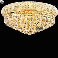 Luzes lâmpada quarto lâmpada Do Teto de ouro retro minimalista lobby do hotel lâmpada luzes do corredor lâmpada D50cm x H25cm