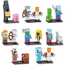 8 компл./лот мой мир зомби Стив Enderman Building Block совместимые legoing Фигурки игрушки подарок