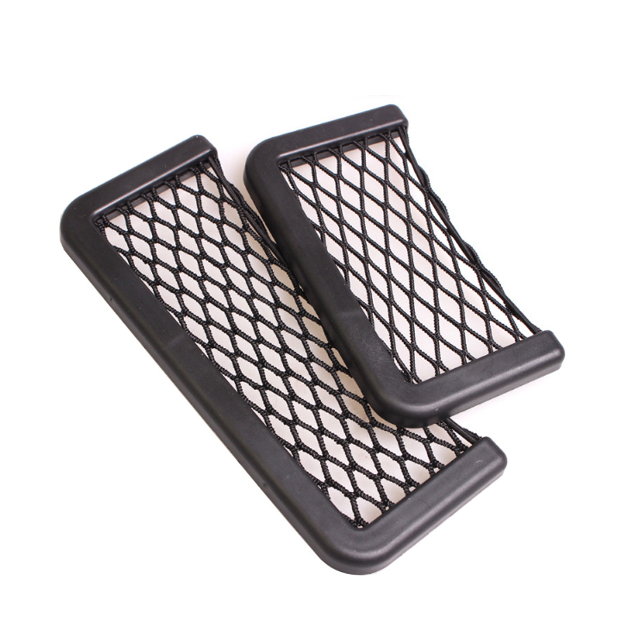 Image 4 - YCCPAUTO 1Pcs Car Organizer Storage Bag Auto Paste Net Pocket Phone Holder Car Accessories 20*8CM 8*15CM Universal-in Nets from Automobiles & Motorcycles