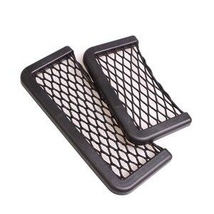 Image 4 - YCCPAUTO 1Pcs Car Organizer Storage Bag Auto Paste Net Pocket Phone Holder Car Accessories 20*8CM 8*15CM Universal