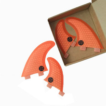 Surf FCS fins fin G3+GL 4pcs per set Orange color in surf