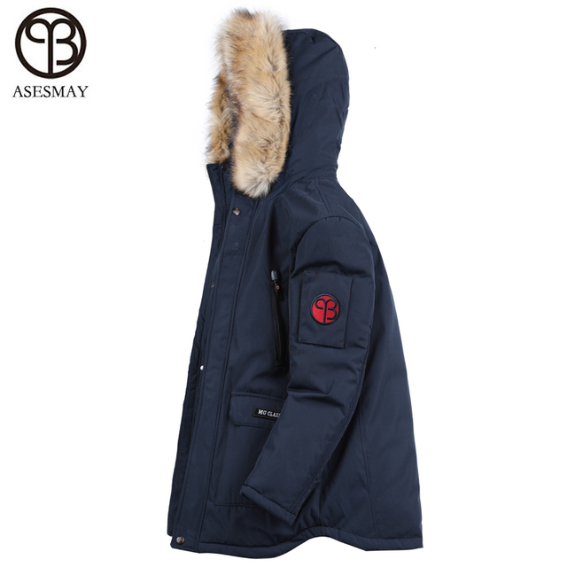 Best Price Asesmay 2018 New Arrival Men Winter Jacket Mens Winter Padded Coat Cotton Artifical Fur Hoodies High Quality Thicken Warm Parka