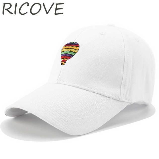 Cute Hot Air Balloon Baseball Cap Trucker Dad Hats Women Men Embroidery  Snapback Hip Hop Caps Summer Cotton Black Hat Adjustable 6c62a5d1a8a