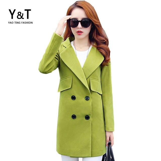 d3a079d651b9 Thick Winter Wool Coat Women Long Trench Coats Girls Outdoor ...