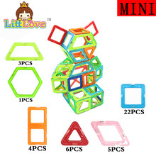 Mini Size 41Pcs/Lot Robot Magnetic Blocks Models Building Bricks 3D DIY Learning Educational Toys For Children Gifts(China)