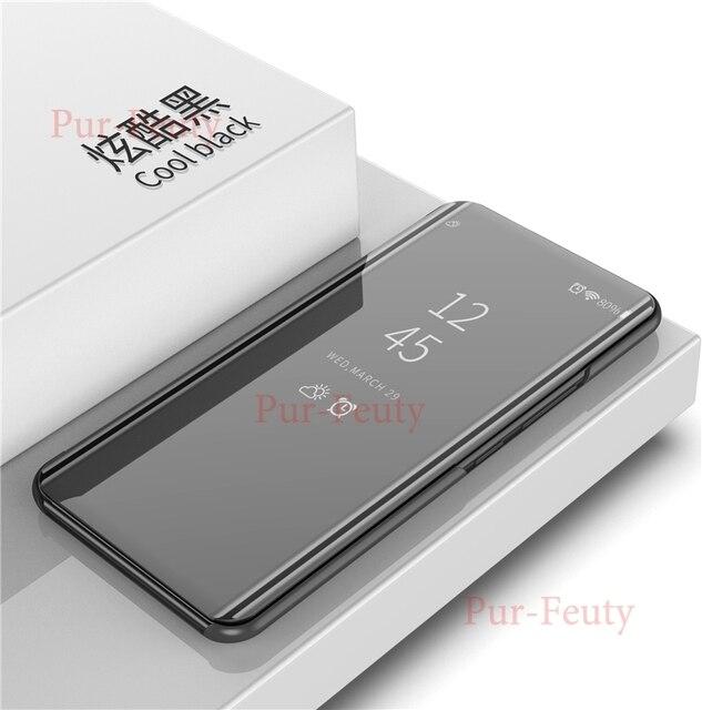 Flip Case For Xiaomi Mi Max 3 Max3 Clear View Mirror Luxury PU Leather Cover For Xiaomi Max3 Mimax M1804E4A M1804E4C Phone Cases