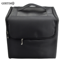 Gertimo Makeup Professional Storage Beauty Box Travel Cosmetic Organizer Carry Case Black