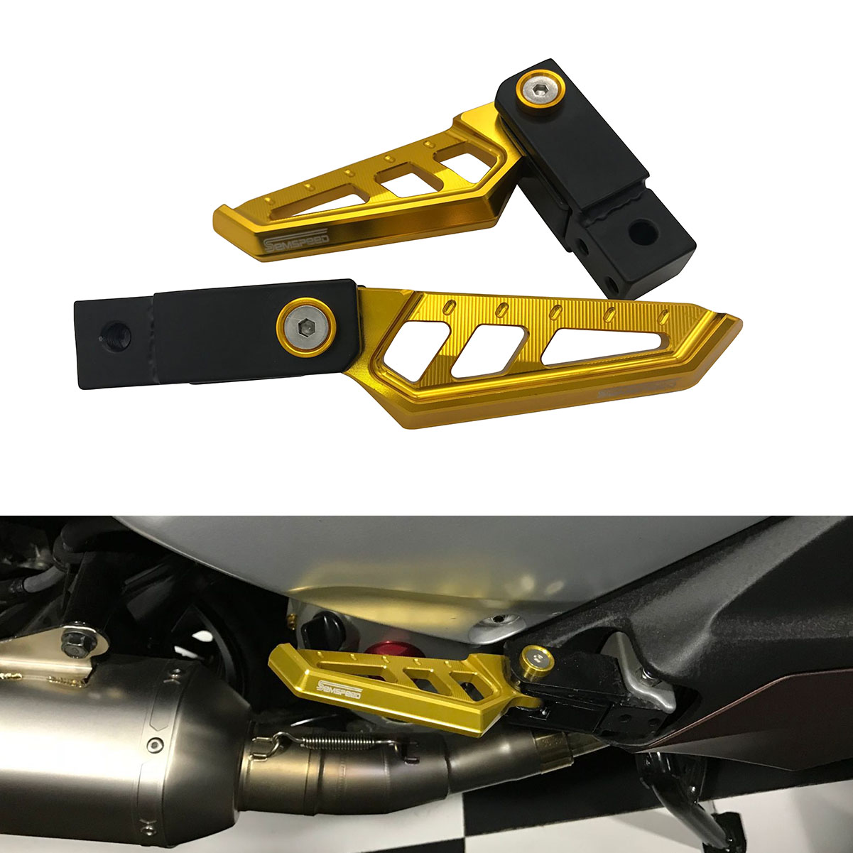 Universal Cnc Motorcycle Rotatable Rear Footrest For Honda Foot Peg Plate Forza300 250 125 Grom/msx125 Cbr600rr/900rr/1000rr Superior Materials Covers & Ornamental Mouldings