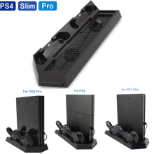 3 in 1 Dual Controller Charging Station Cooling Fan,Vertical Stand Charger for PS4 / Pro/ Slim Game Console Space Saving