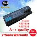 Venta al por mayor nuevos 6 celdas de la batería del ordenador portátil para Acer Aspire AS07B31 AS07B32 batería batería AS07B42 AS07B51 AS07B71 envío gratis