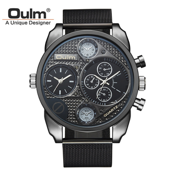 Strip Dual Movement Quartz Wrist Watch with Small Dials Luxury Timepiece 1