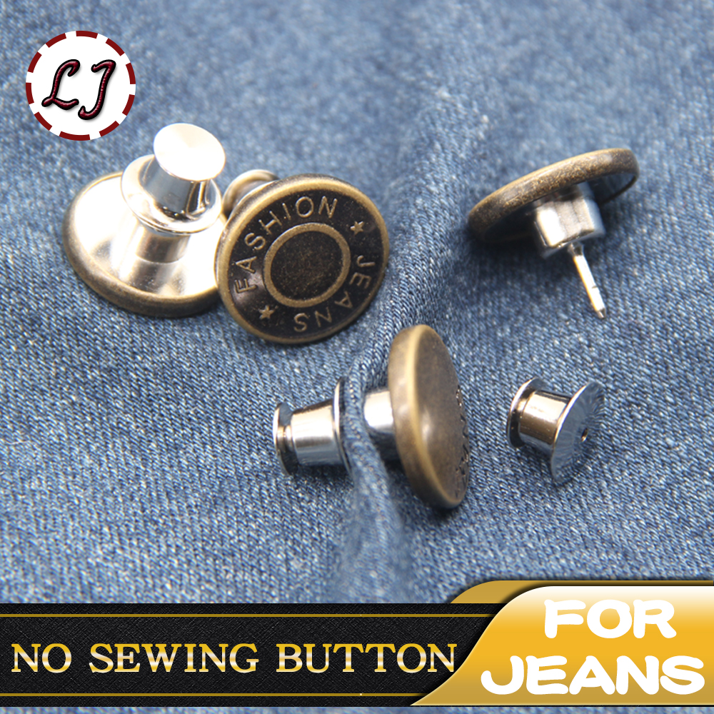 Adjustable Button Perfect Fit For Jeans Pants Skirt Replace Button Pack of 8