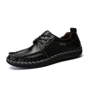 Image 3 - Mynde 2018 Mode Komfortable Casual Schuhe Müßiggänger Männer Schuhe Qualität Aus Echtem Leder Schuhe Männer Wohnungen Heißer Verkauf Mokassins Schuhe
