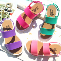 2016 Summer Fashion Sandals Kids Girls Jelly Party Princess Casual Beach Shoes Baby Shoes Beach Slippers