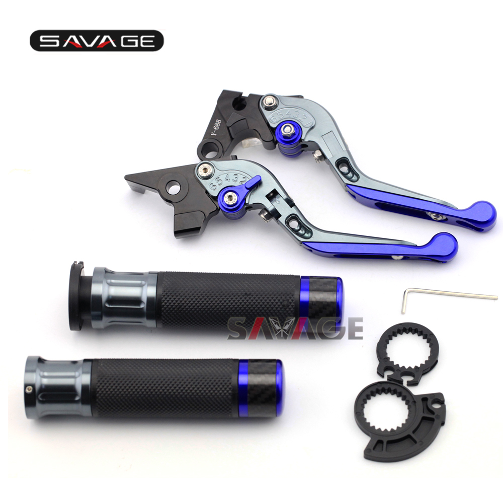 For KAWASAKI ER-6N ER-6F NINJA 650 650R Motorcycle Adjustable Folding Brake Clutch Levers Handlebar Hand Grips