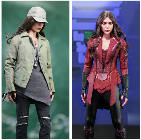 1/6 scale figure Captain America Civil War or Avengers II Scarlet Witch 12 Action figure doll Collectible Model plastic toy 1 6 scale figure captain america civil war or avengers ii scarlet witch 12 action figure doll collectible model plastic toy