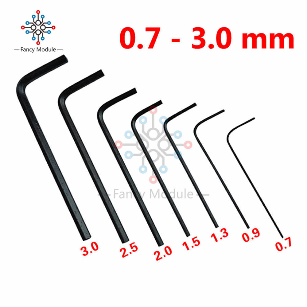 7Pcs 0.7 Mm-3 Mm Mini Hexagon Hex Kunci Allen Wrench Obeng Alat Kit Panas