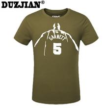 395bfb1b4 2016 Summer Timberwolve Kevin Garnett Short-sleeved T-shirt child basketbal  t-shirt