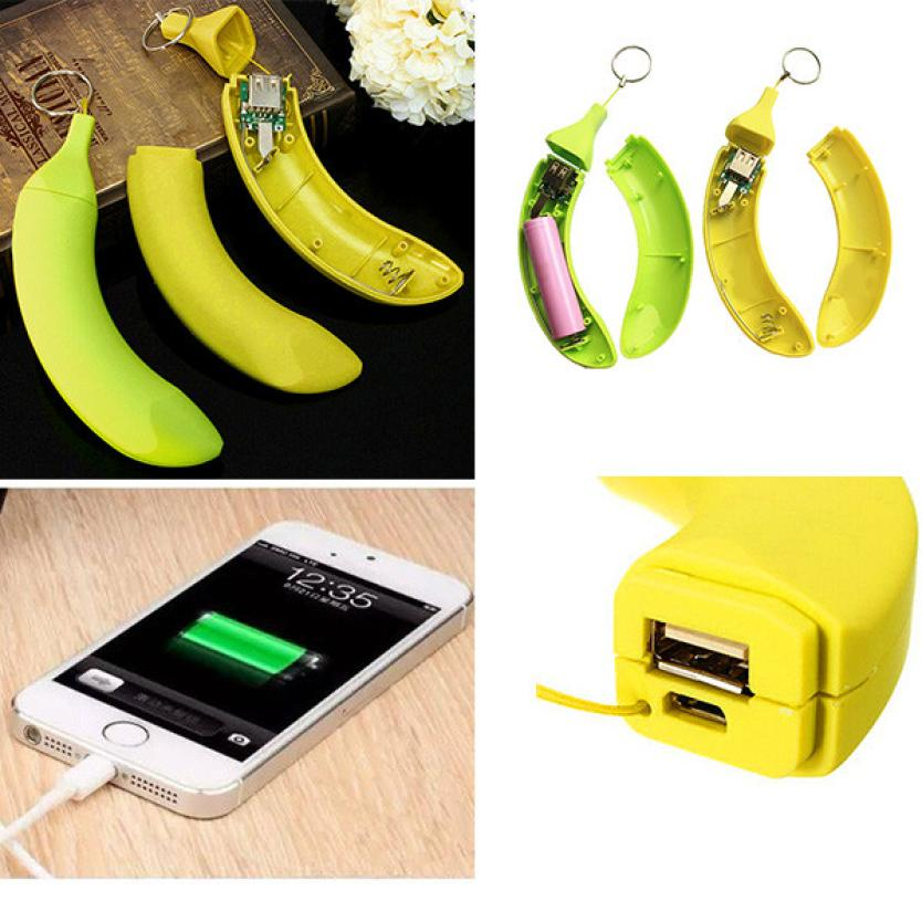 1 PC DIY 1*18650 Banana Box Battery Power Bank Charger Box For iPhone USB Chargable Bike Cycling Bicycle Light Flashlight P30