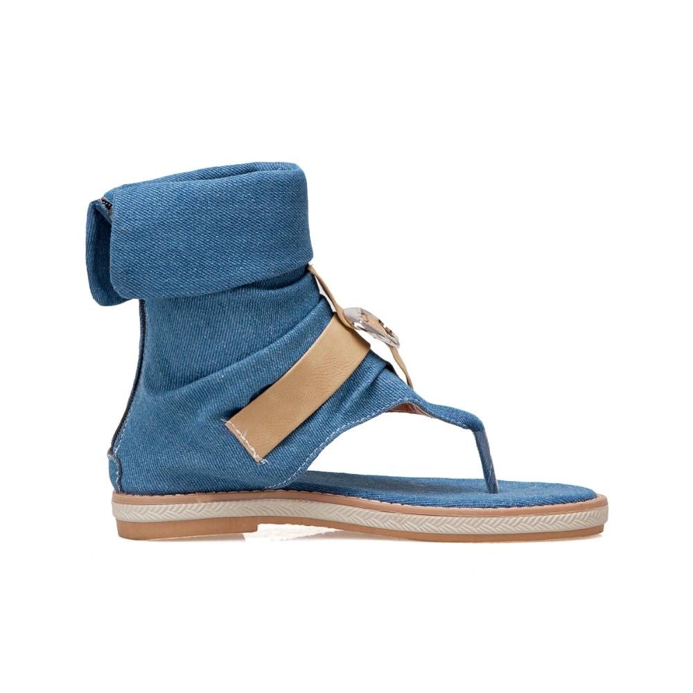 CDPUNDARI Ladies Denim Flat sandals for women Platform Sandals summer shoes woman Gladiator Sandals sandalias mujer 2019