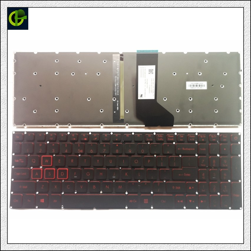 New backlit English Keyboard for Acer Nitro 5 AN515 AN515 51 AN515 52 AN515 53 AN515 41 AN515 42 AN515 51 5594 AN515 31 N16C7 US-in Replacement Keyboards from Computer & Office on