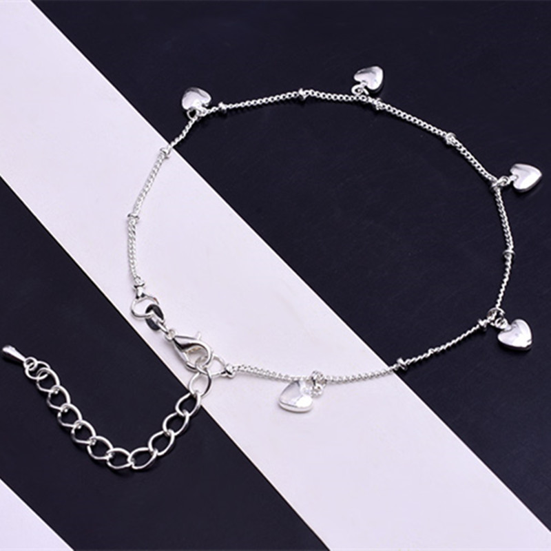 2020 New Love Heart Bracelets on leg the Anklets Beach Barefoot Sandals Foot Jewelry For Women Fashion Brand 2020 New Arrival 1