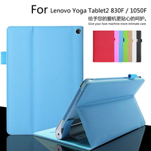 High quality leather case cover For Lenovo Yoga Tablet2 8.0 inch 830F 830L / 10.1 inch 1050F 1050L Tablet cover case +film