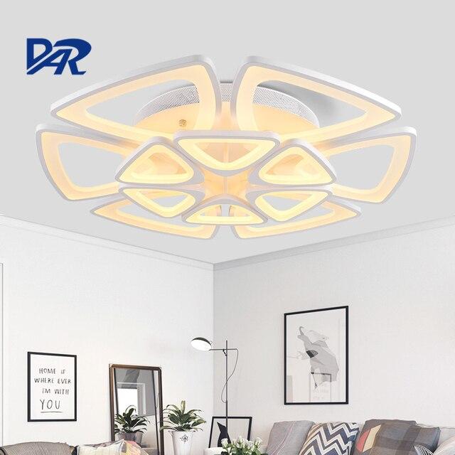 Luxe acrylique plafonnier avec télé mande lampara led lampe