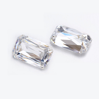 Clear white 8x10mm Criss cut Emeralde cut EF color loose moissanites gemstone for jewelry making