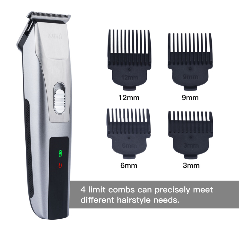 KEMEI Professional Electric Hair Clipper Rechargeable Hair Trimmer ... c2c07b34cf