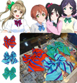 Amor ao vivo cosplay gravata borboleta uniforme três cores acessórios cosplay