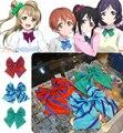 Amor vivo cosplay uniforme arco empate de tres colores cosplay accesorios
