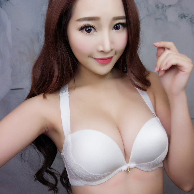 36629952bda MINGMO 2018 Hot Sale Push Up Sexy Small Girls Glossy Pure White Lingerie  Lace 7 Kinds Wear Women Underwear Panties And Bra Sets