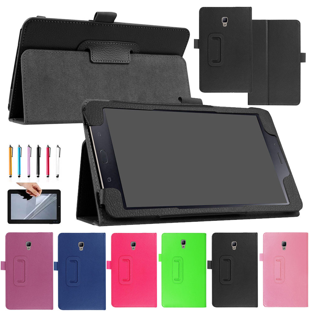 Eagwell Case For Samsung Galaxy Tab A 8.0 T380 T385 2017 8.0 inch Ultra thin PU Leather Flip Stand Smart Case Cover Shell Funda