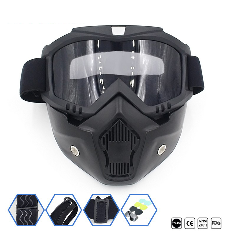 Motorcycle Face Mask Goggles Off Road Riding Motocross Dirt Bike Glasses Eyewear