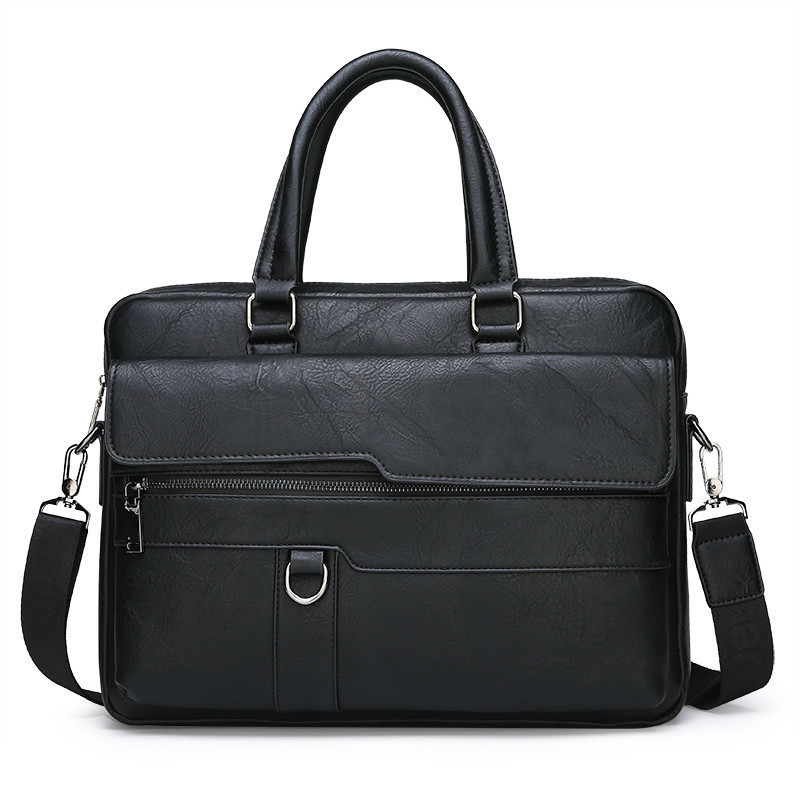 HTB1FgIAeL1H3KVjSZFBq6zSMXXa7 New Men Briefcase Bags Business Leather Bag Shoulder Messenger Bags Work Handbag 14 Inch Laptop Bag Bolso Hombre Bolsa Masculina