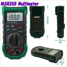 1 шт. Mastech MS8269 3 1/2 Цифровой Мультиметр AC/DC Напряжение Ток Сопротивление Емкость Температура Индуктивность Тест