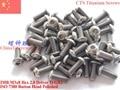 Титановый винт M3x7 M3x8 ISO 7380 с шестигранной головкой 2,0 Отвертка Ti GR2 полированная 25 шт. - фото