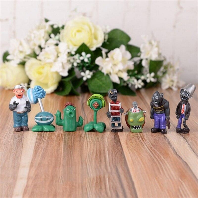 8pc New Popular Game Plants vs Zombies PVC Action Figures font b Toy b font PVZ