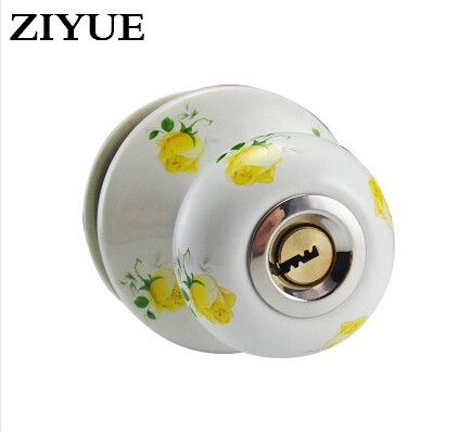 Free Shipping  Ceramic Spherical Door lock  Copper Core for wooden Indoor Home house living  Room