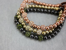 Pulseras Mujer Fashion Metal Regula Bead Leather Bracelets & Bangles Crystal Famous Brand Jewelry For Women Girl Korly Bracelet