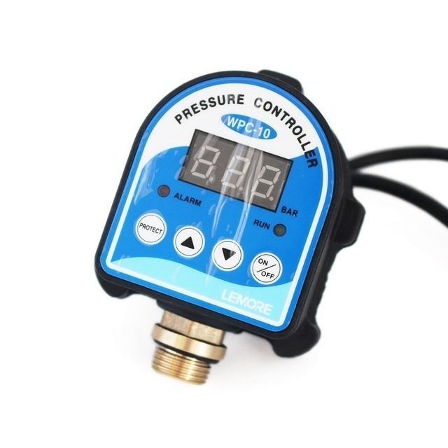 """디지털 압력 제어 스위치 WPC 10, 디지털 디스플레이 WPC 10 G1/2 """"어댑터가있는 워터 펌프 용 전자 압력 컨트롤러"""