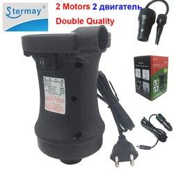 Stermay HT-458 2 motor elektrische aufblasbare luftpumpe AC 220 V DC 12 V auto zigarettenanzünder pumpe inflator deflator für angeln boot