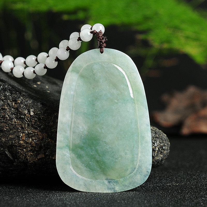 Natural A cargo jade dragon LS4352 pendant authentic Burmese jade antique pendant men and women models 65 *43*8mm