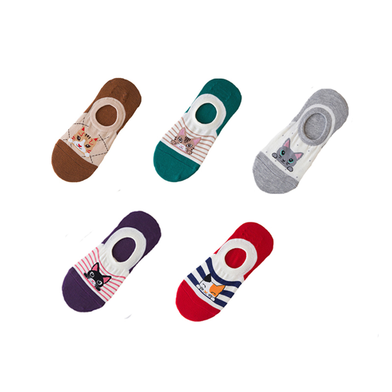 50Pair/Lot Women Socks Cute Cotton Ankle Sock Colorful Cartoon Stretchy Shaping Many Kind of Funny Styles Girls Sock Wholesale