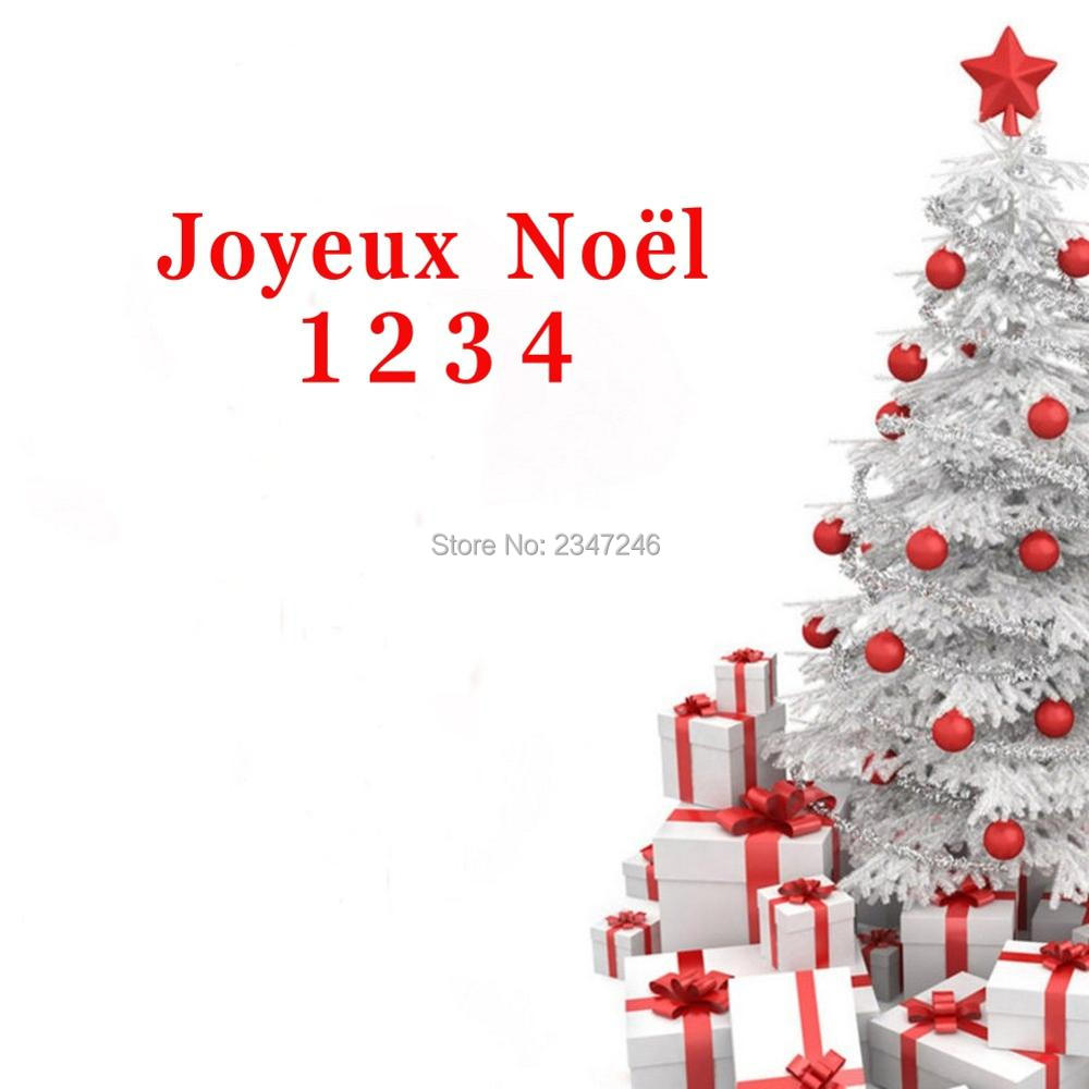French Quotes Joyeux Noel Wall Decals Decorative Merry Christmas ...